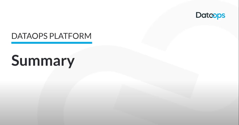 DataOps.live Platform Summary