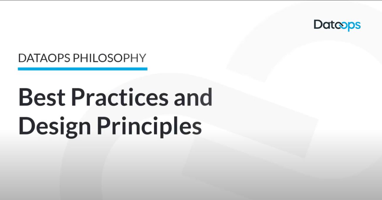 DataOps Best Practices