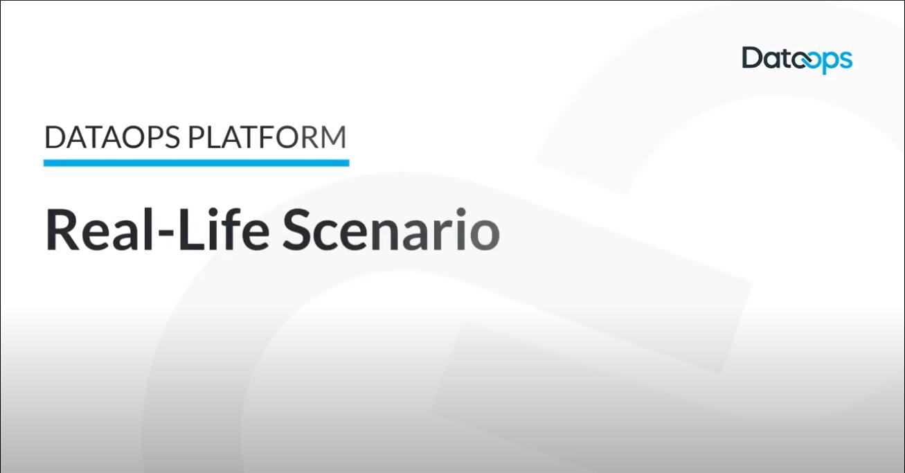 DataOps Platform Scenario