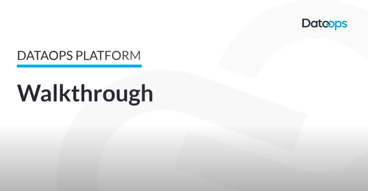DataOps.live Platform Walkthrough
