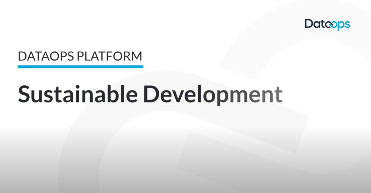 DataOps.live Platform Sustainable Development