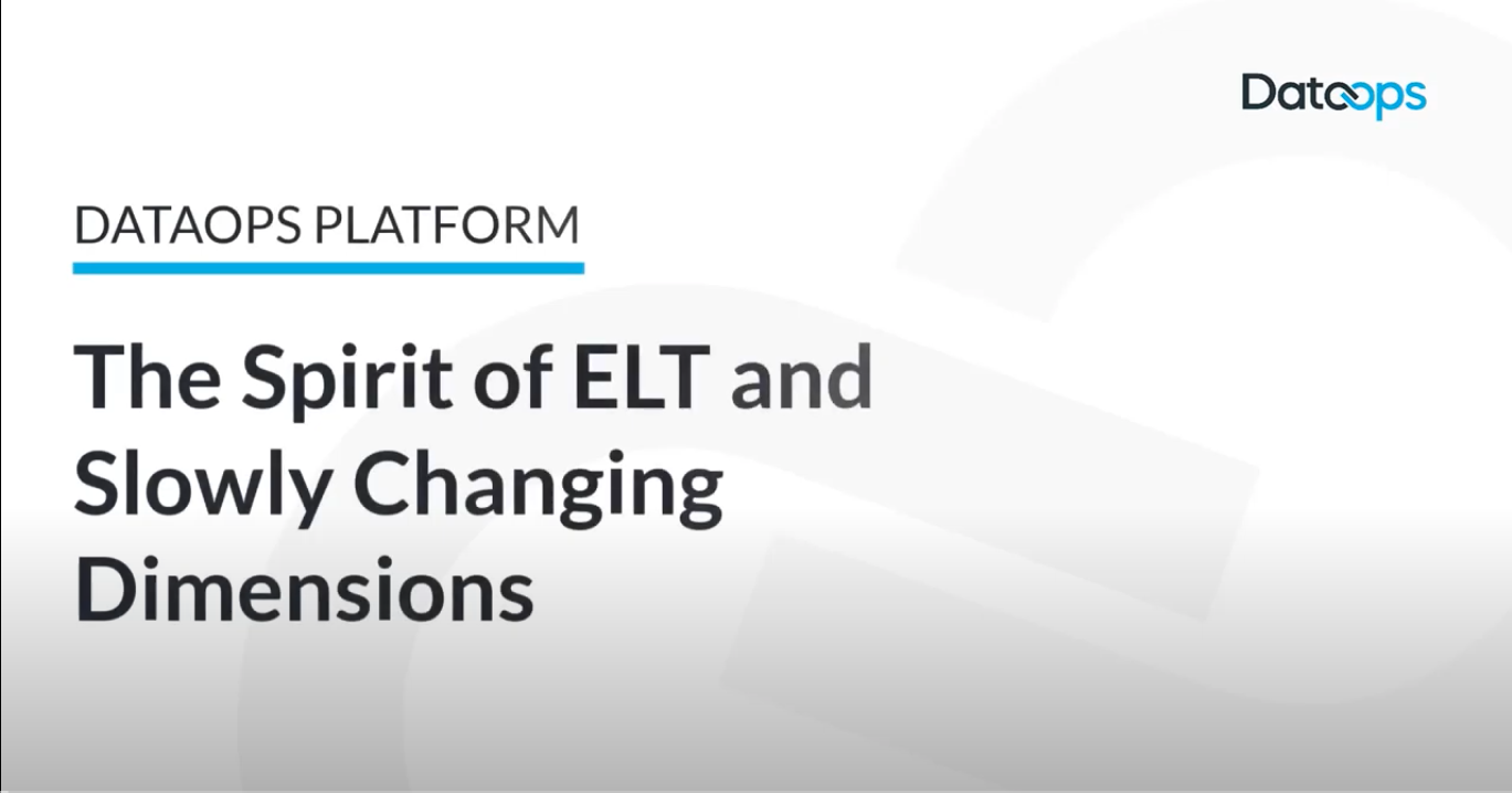DataOps.live Platform Spirit of ELT