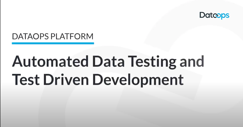 DataOps.live Platform Automated Data Testing